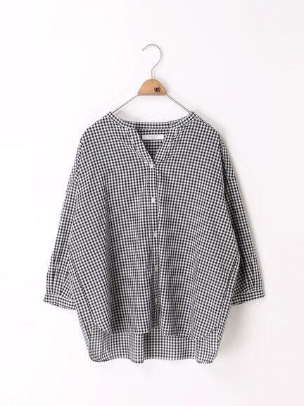 Samansa Mos2 blue(サマンサモスモスブルー)の「スキッパーワイドシャツ(シャツ/